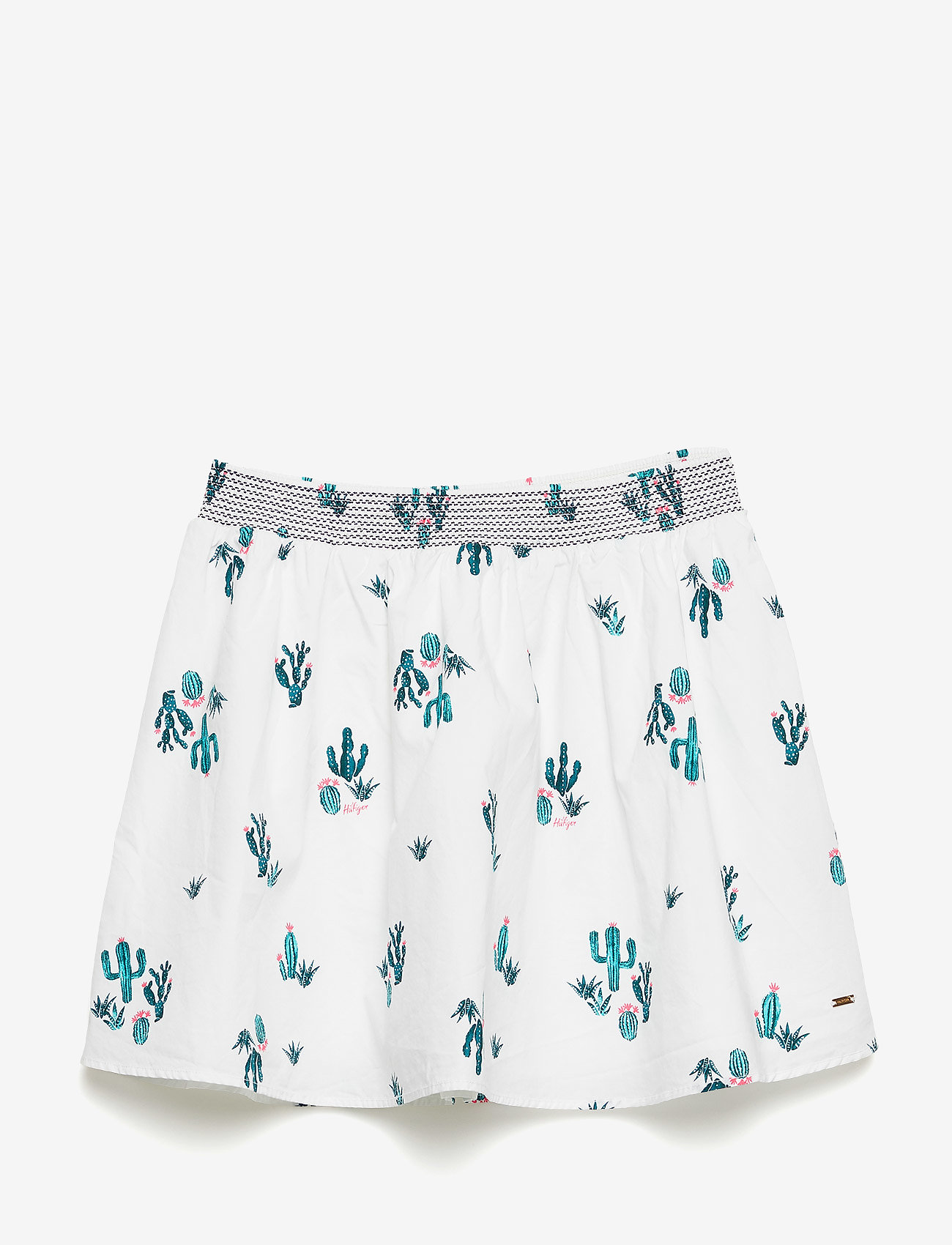 Tommy Hilfiger - CACTUS ALLOVER PRINT - spódnice - bright white/multi - 0
