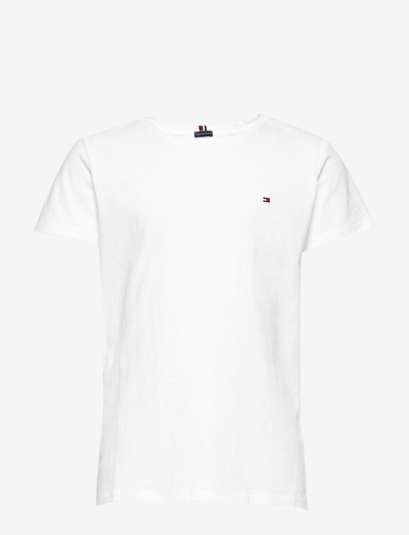 Tommy Hilfiger - GIRLS BASIC CN KNIT - short-sleeved - bright white - 0