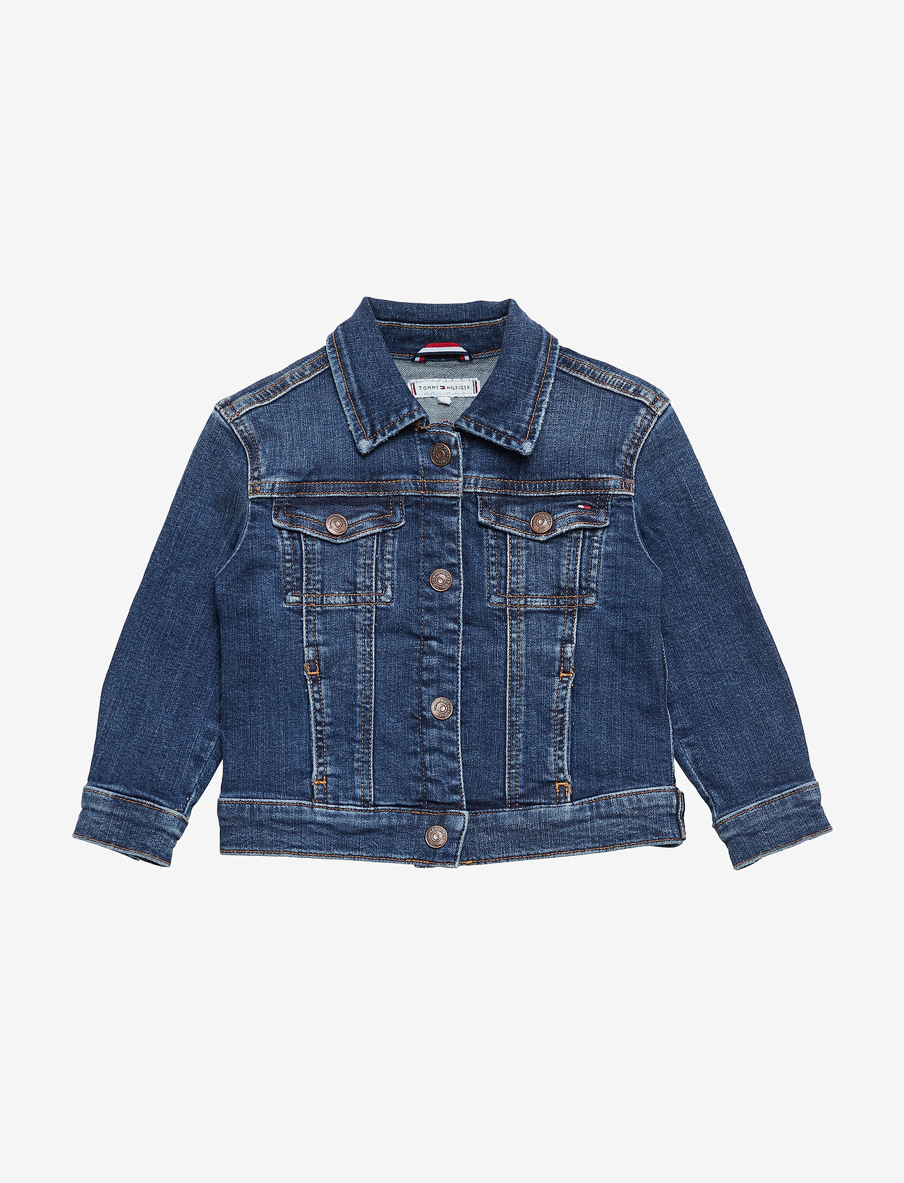 Tommy Hilfiger - OVERSIZED TRUCKER FO - denim & corduroy - forest mid blue stretch - 0