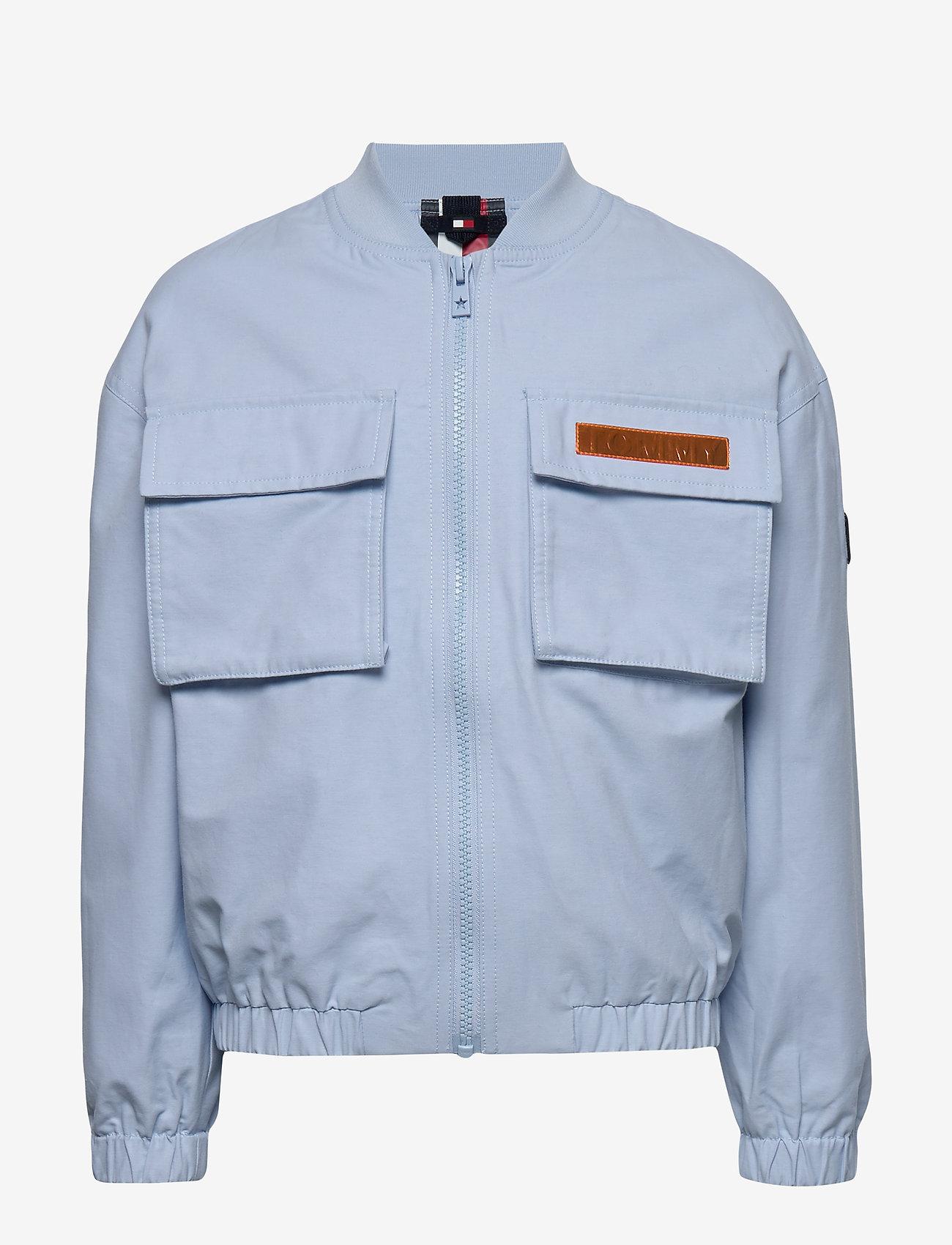 Tommy Hilfiger - TOMMY UTILITY BOMBER JACKET - bomber jackets - calm blue - 0