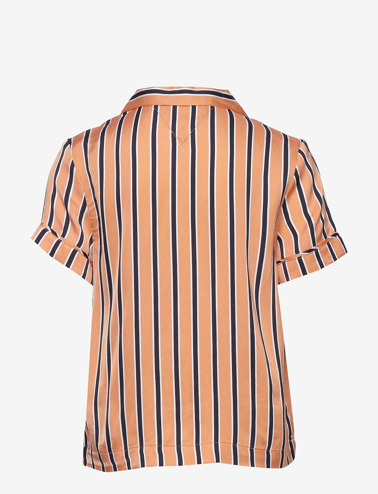Tommy Hilfiger - RESORT STRIPE SHIRT S/S - shirts - melon orange/ twilight navy - 1