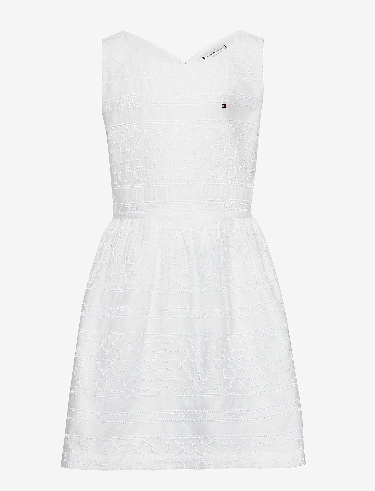 Tommy Hilfiger - BRODERIE ANGLAISE DRESS SLVLS - nightdresses - white - 0