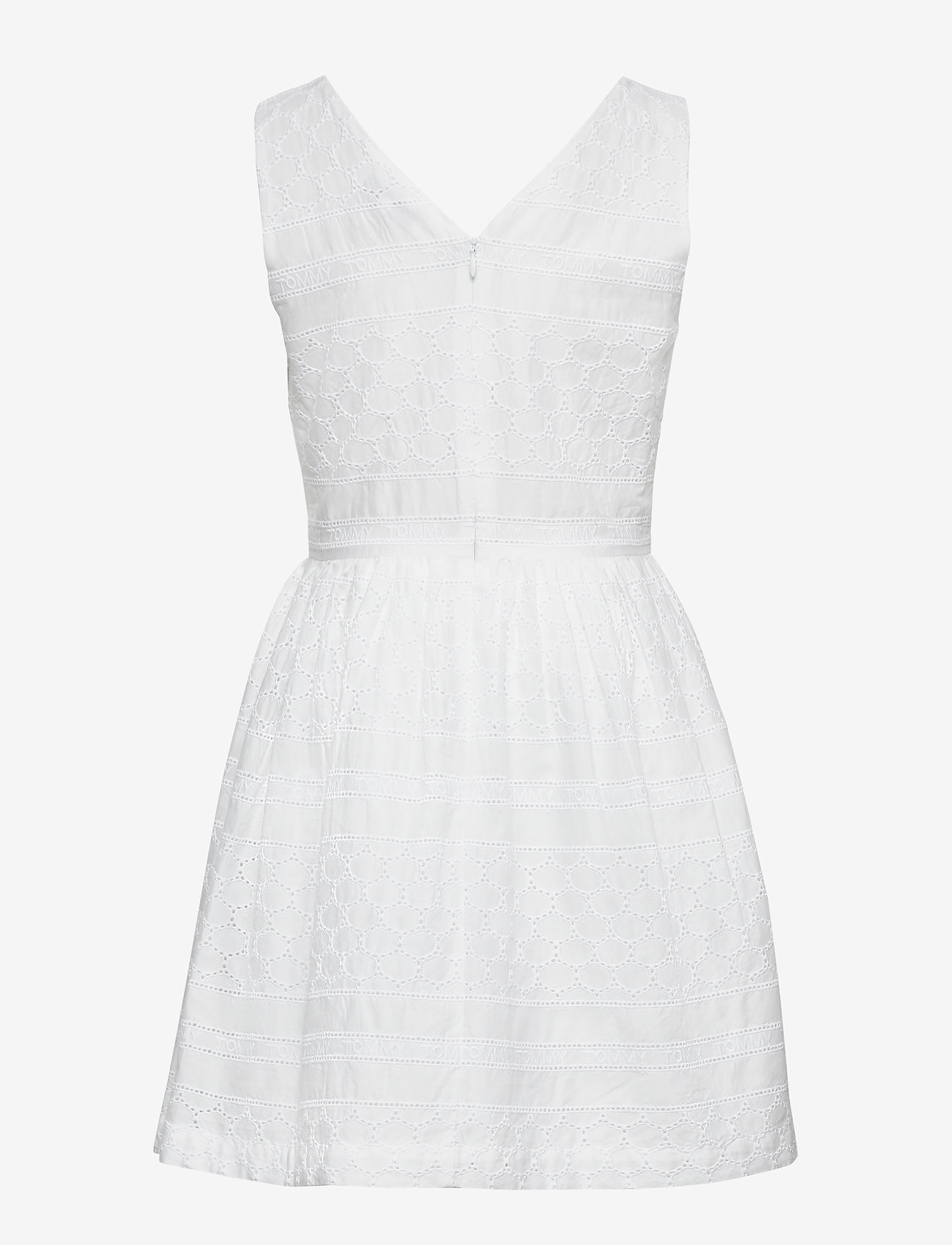 Tommy Hilfiger - BRODERIE ANGLAISE DRESS SLVLS - nightdresses - white - 1