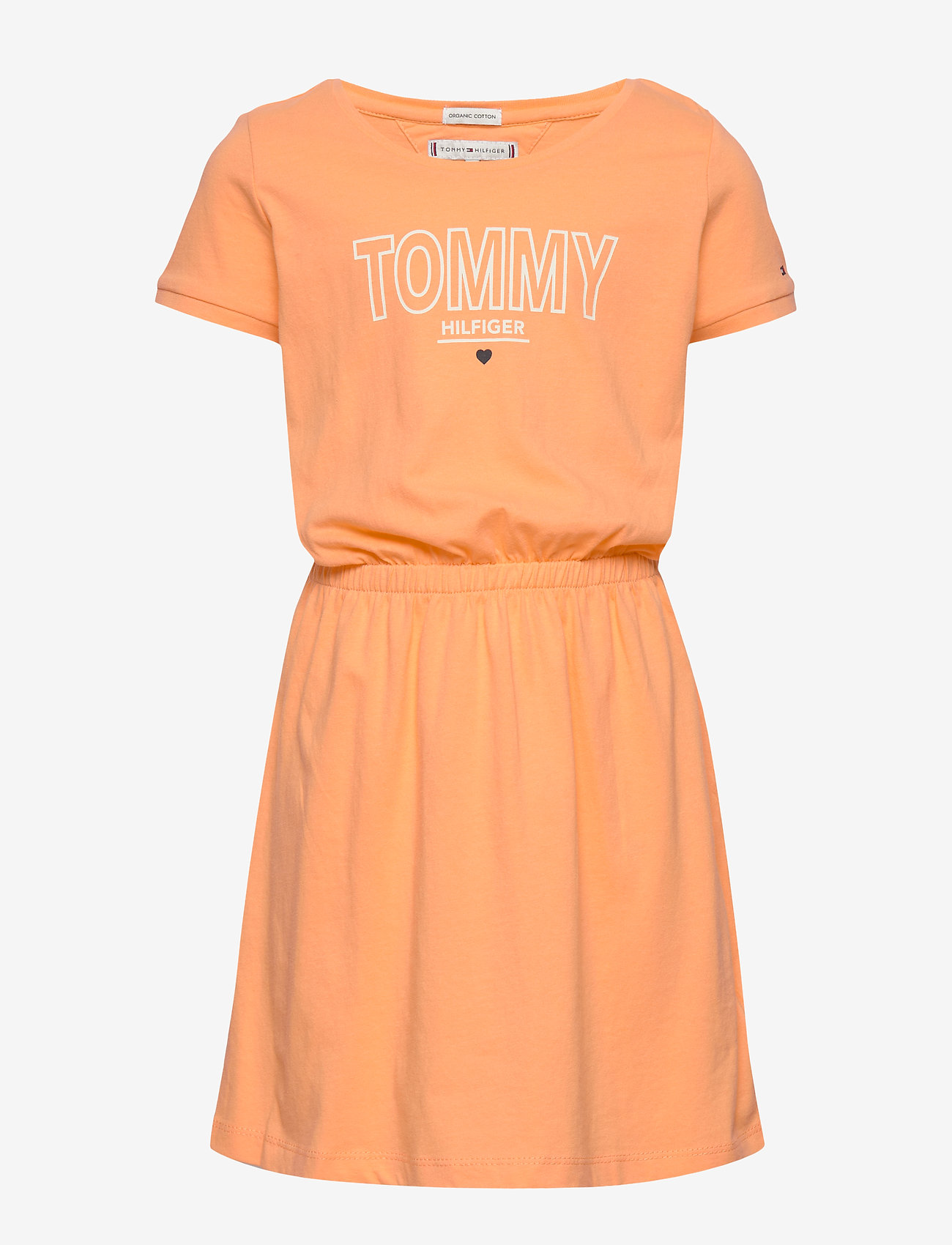 Tommy Hilfiger - JERSEY TEE DRESS S/S - robes - melon orange - 0