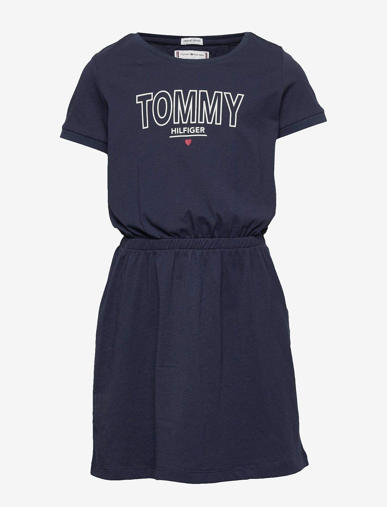 Tommy Hilfiger - JERSEY TEE DRESS S/S - robes - twilight navy - 0