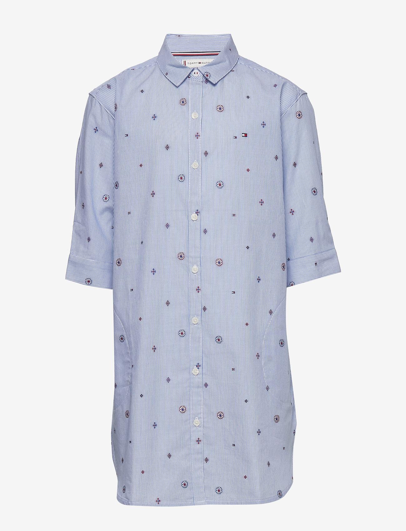 Tommy Hilfiger - LIGHT WOVEN DRESS S/S - robes - calm blue / stripe - 0