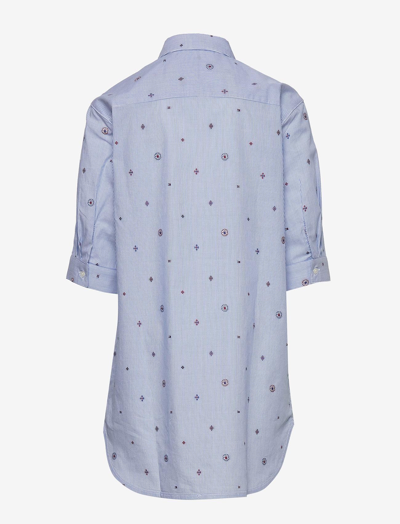 Tommy Hilfiger - LIGHT WOVEN DRESS S/S - robes - calm blue / stripe - 1