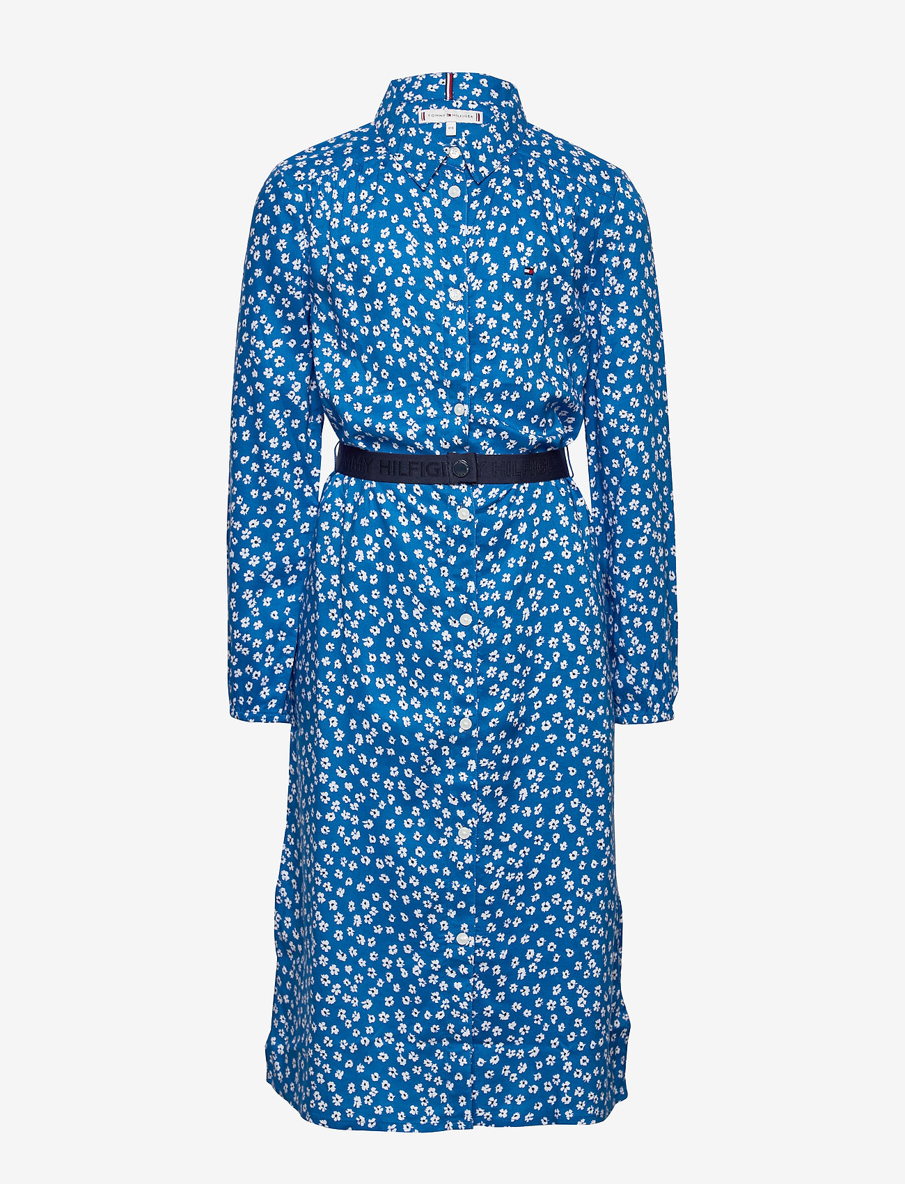Tommy Hilfiger - DITSY FLOWER PRINT DRESS S/S - robes - dynamic blue/ ditsy flower - 0