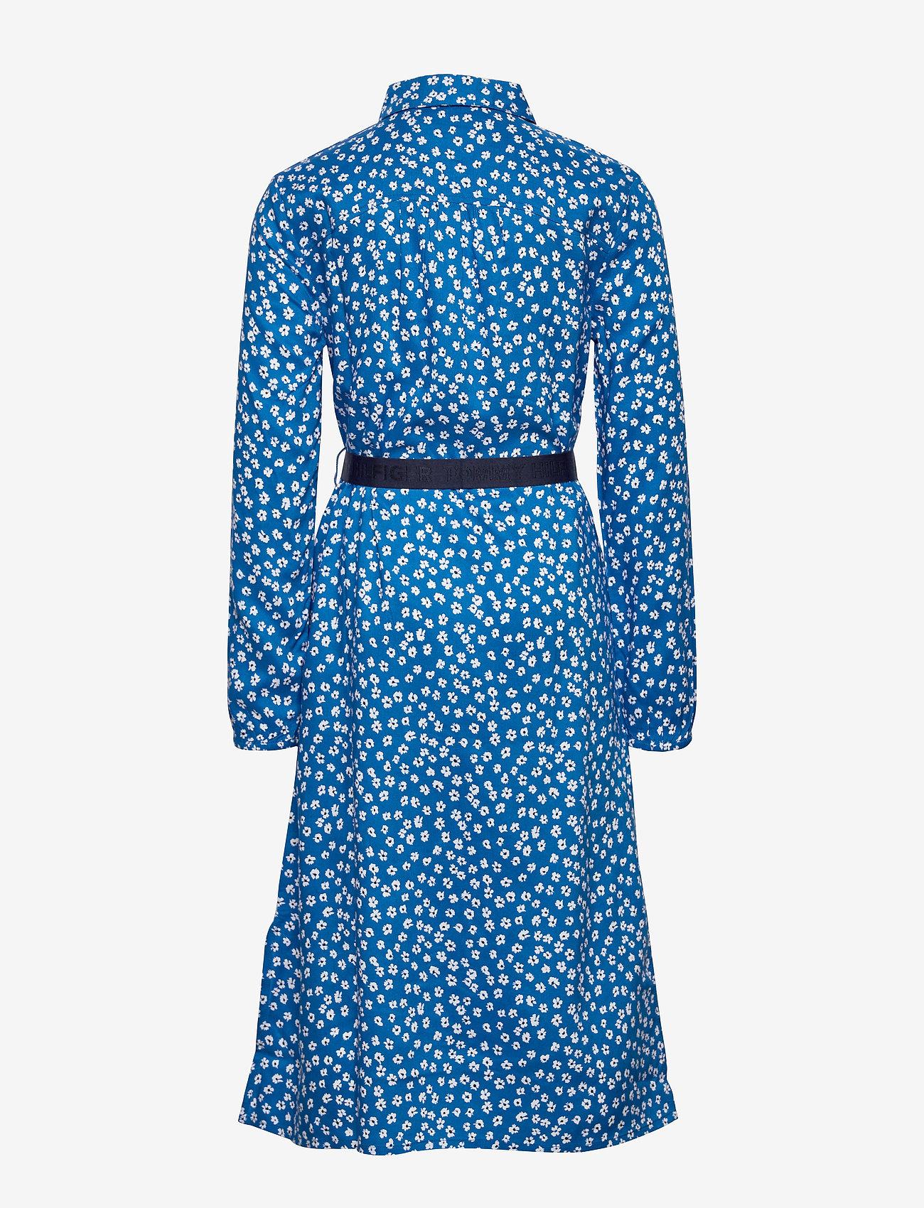 Tommy Hilfiger - DITSY FLOWER PRINT DRESS S/S - robes - dynamic blue/ ditsy flower - 1