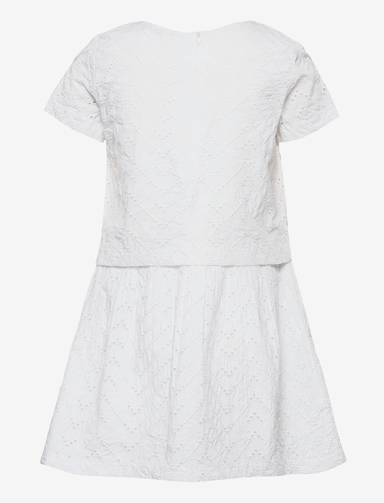 Tommy Hilfiger - BRODERIE ANGLAISE DRESS S/S - kleider - white - 1