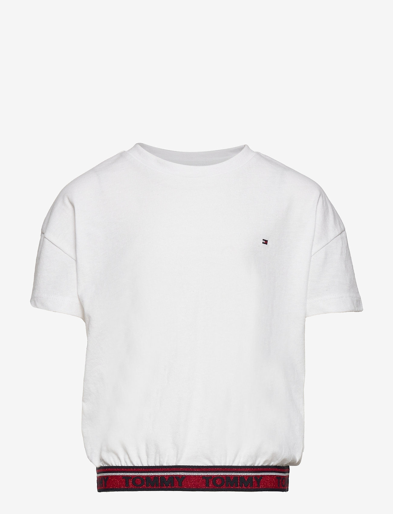 Tommy Hilfiger - TOMMY LUREX RIB  TOP S/S - plain short-sleeved t-shirt - white - 0