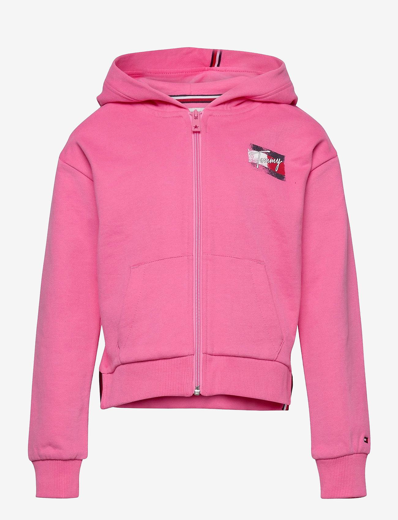 Tommy Hilfiger - FLAG PRINT ZIP HOODIE - sweatshirts & hoodies - exotic pink - 0