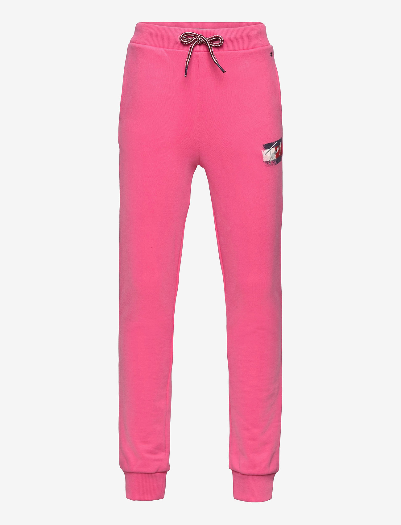 Tommy Hilfiger - FLAG PRINT SWEATPANTS - sweatpants - exotic pink - 0
