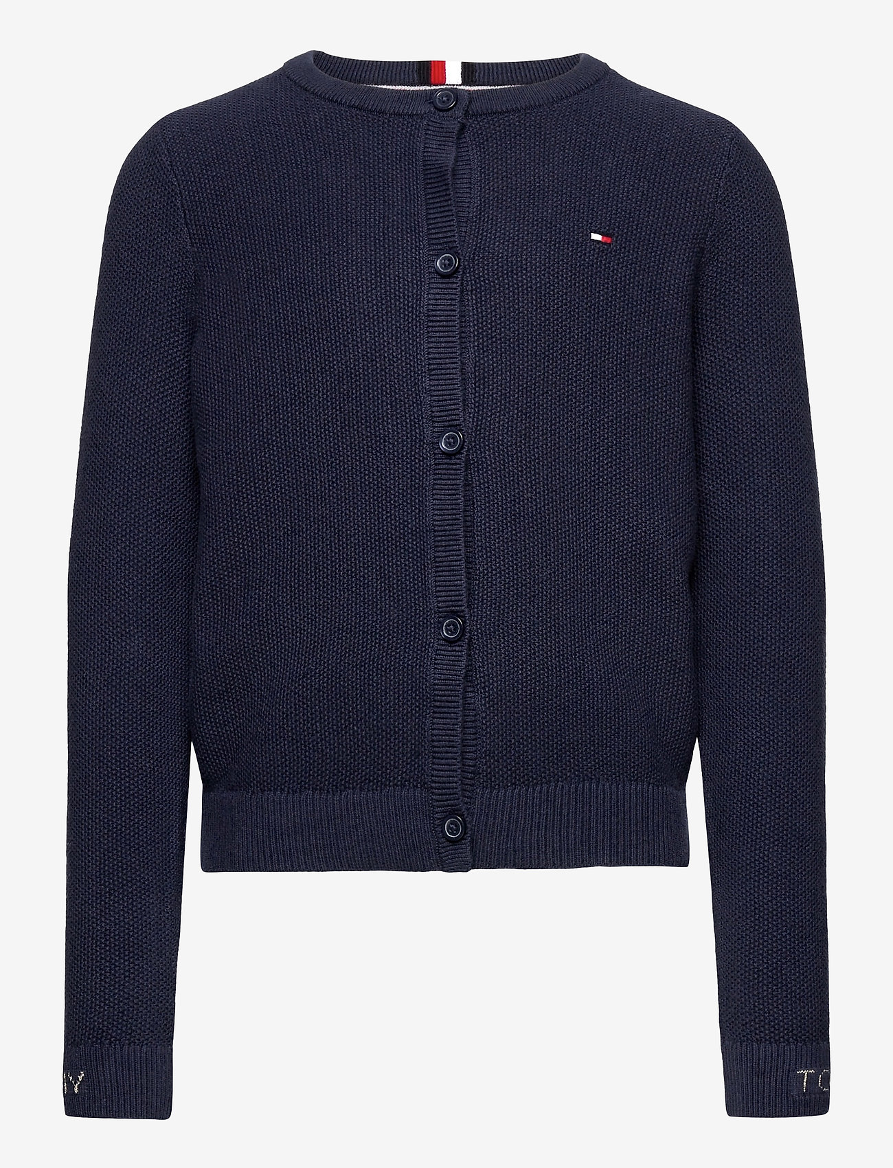 Tommy Hilfiger - STRUCTURED CARDIGAN - gilets - twilight navy - 0