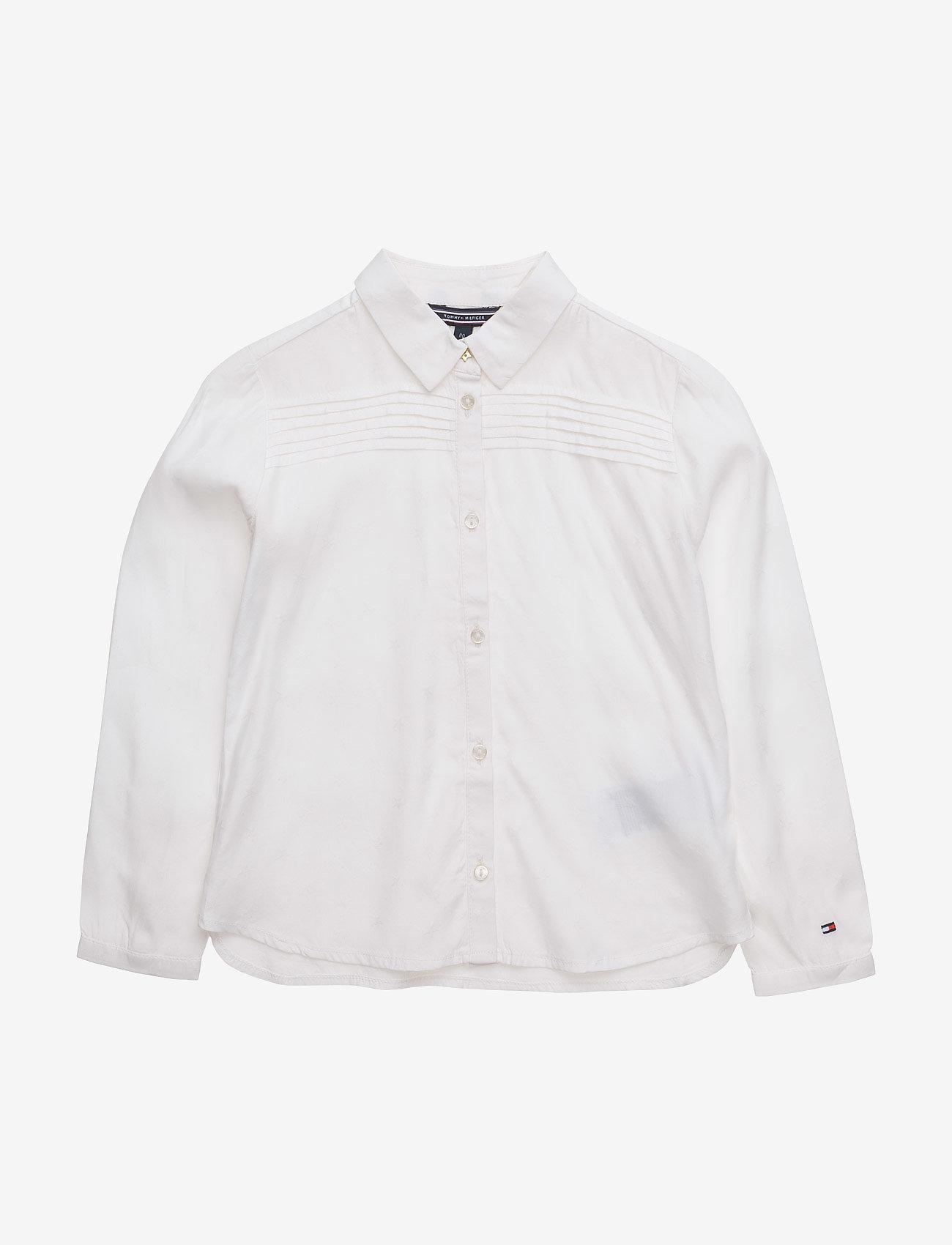 Tommy Hilfiger - STAR JACQUARD MINI TOP  L/S - shirts - white - 0