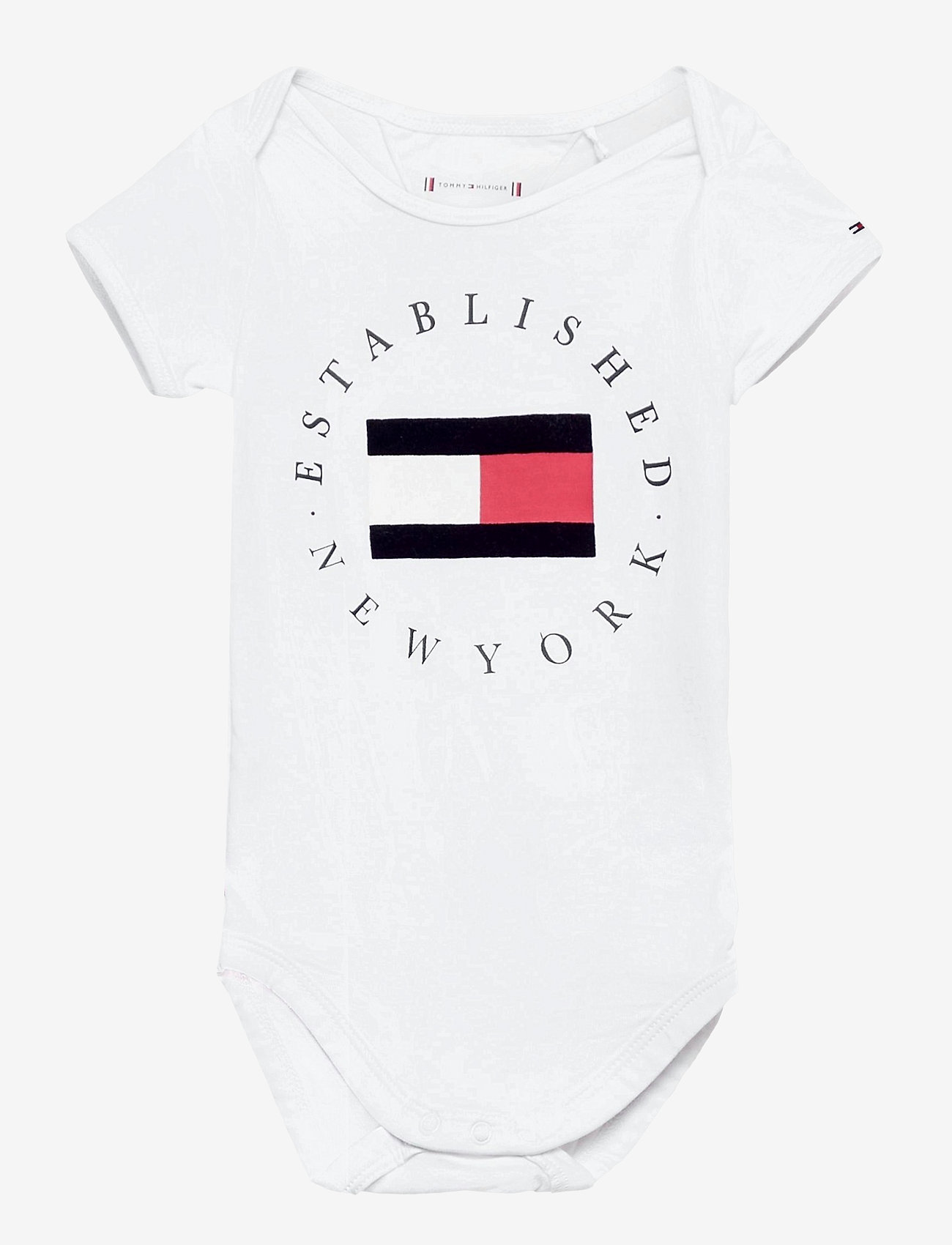 Tommy Hilfiger - BABY ESTABLISHED BODY S/S - kurzärmelige - white - 0