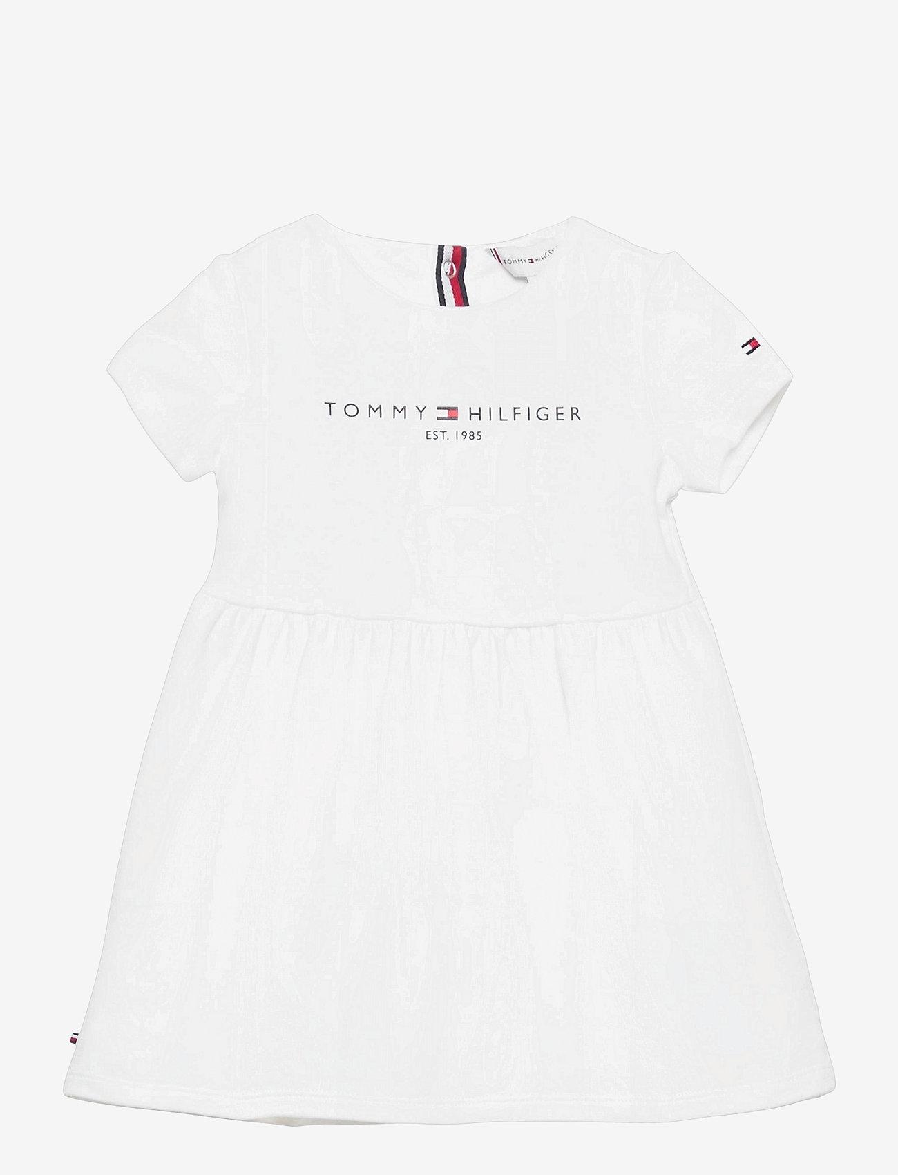 Tommy Hilfiger - BABY ESSENTIAL DRESS S/S - jurken - white - 0