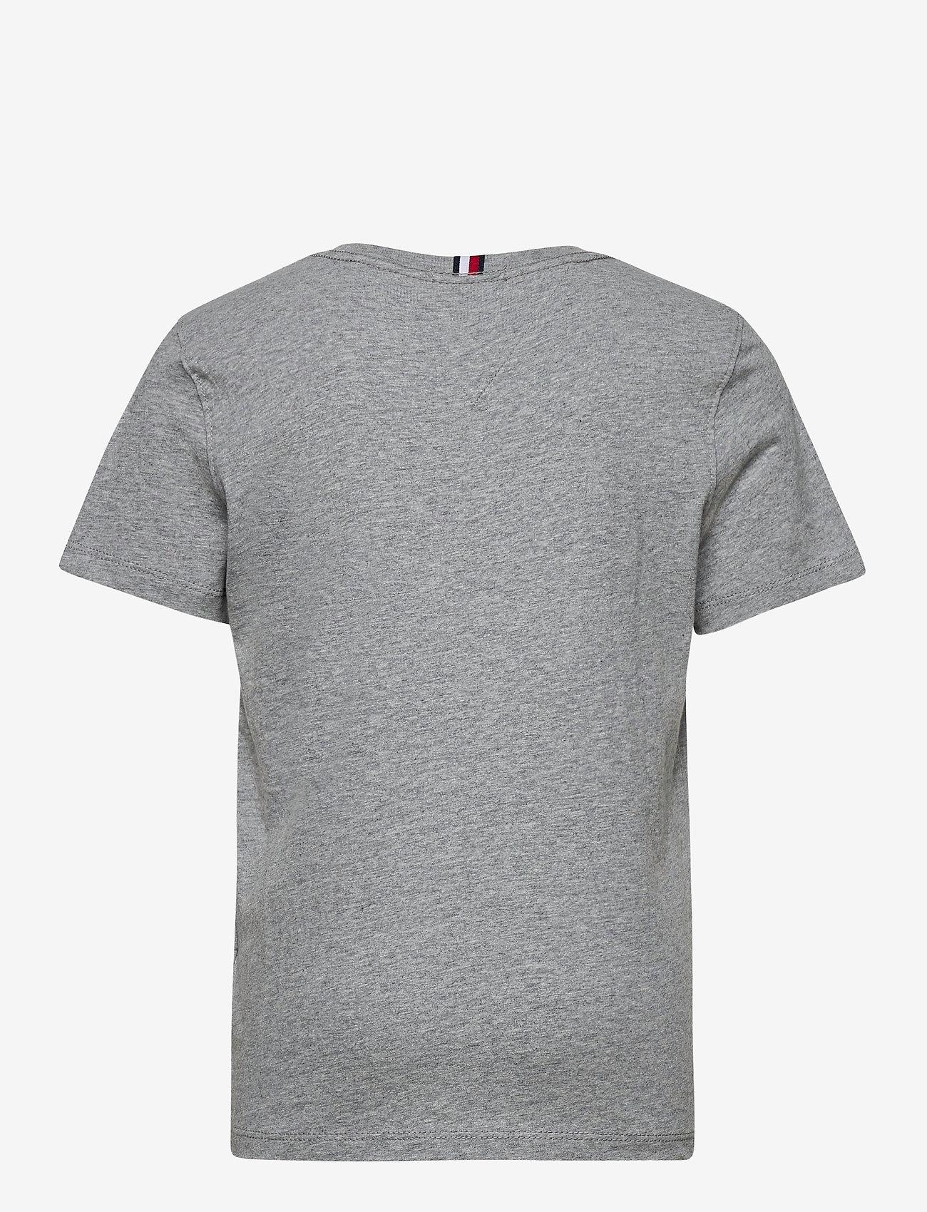 Tommy Hilfiger - U FLAG SMILE TEE S/S - short-sleeved - mid grey htr - 1