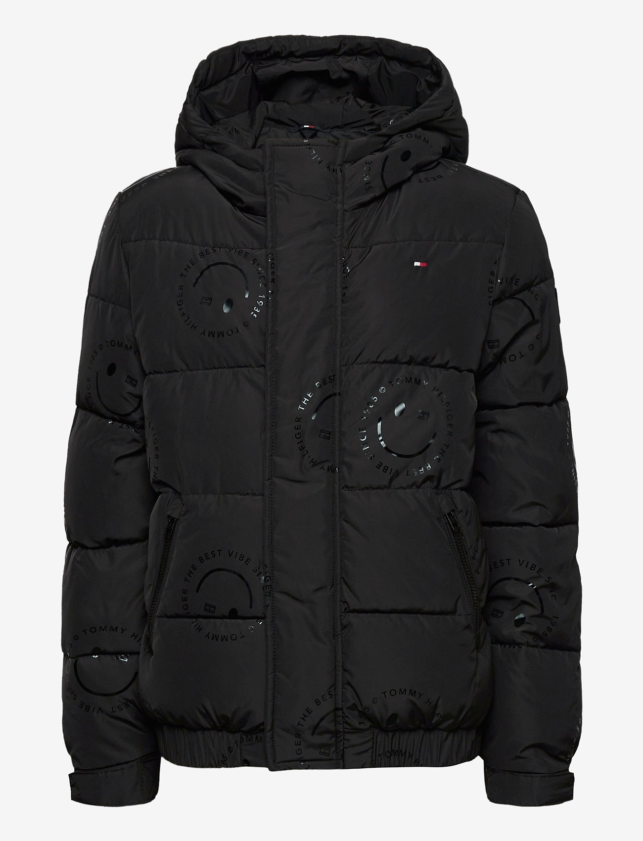 Tommy Hilfiger - U  GLOSSY SMILE AO JACKET - puffer & padded - black allover / smiley allover - 0