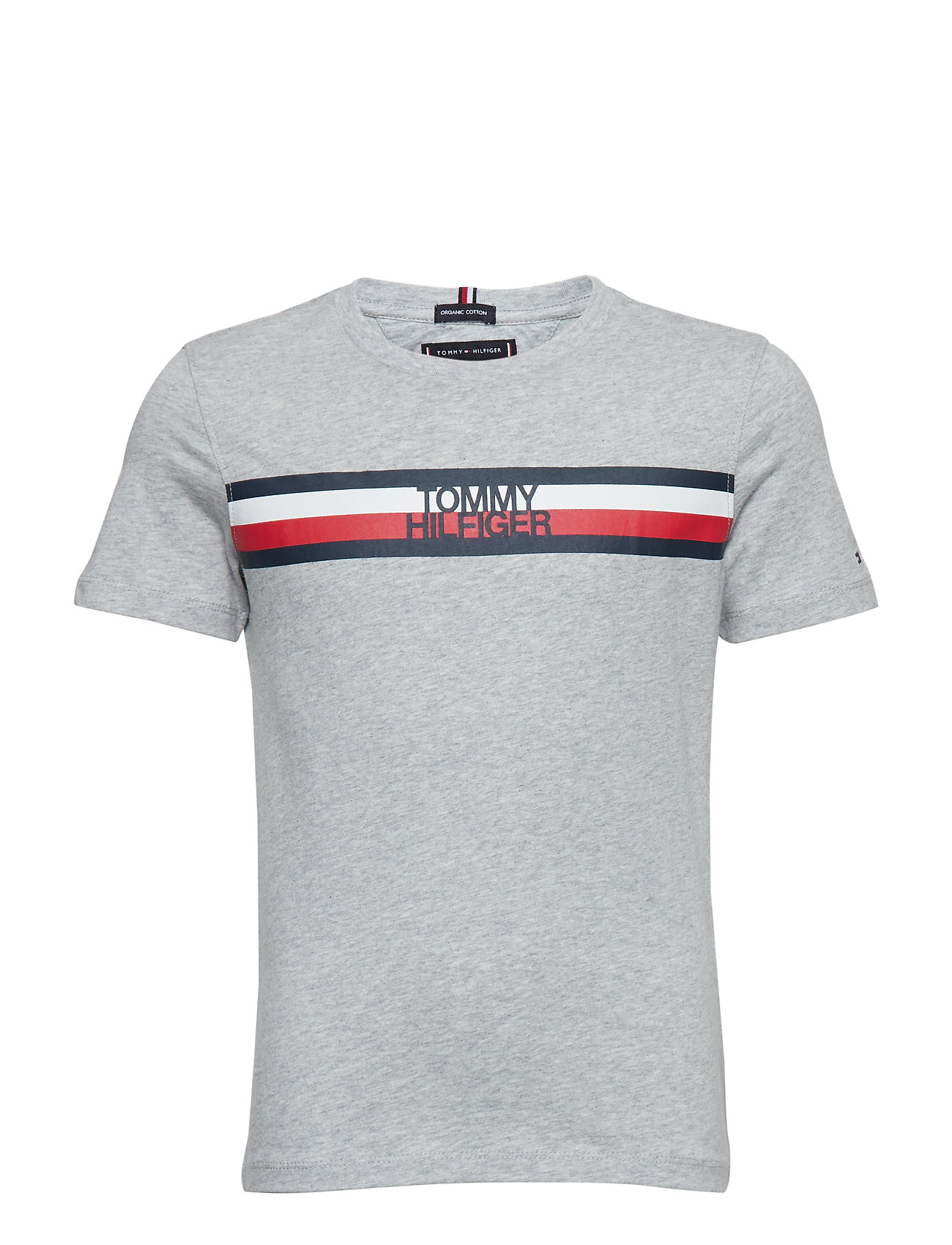 9a263bf6 ... Grå TOMMY HILFIGER. Essential Global Stripe Tee S/S Boys T-shirts  Short-sleeved T-