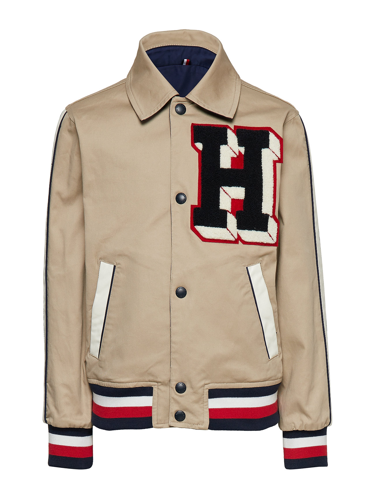 Tommy Hilfiger LETTERMAN REVERSIBLE JACKET - WHITE PEPPER