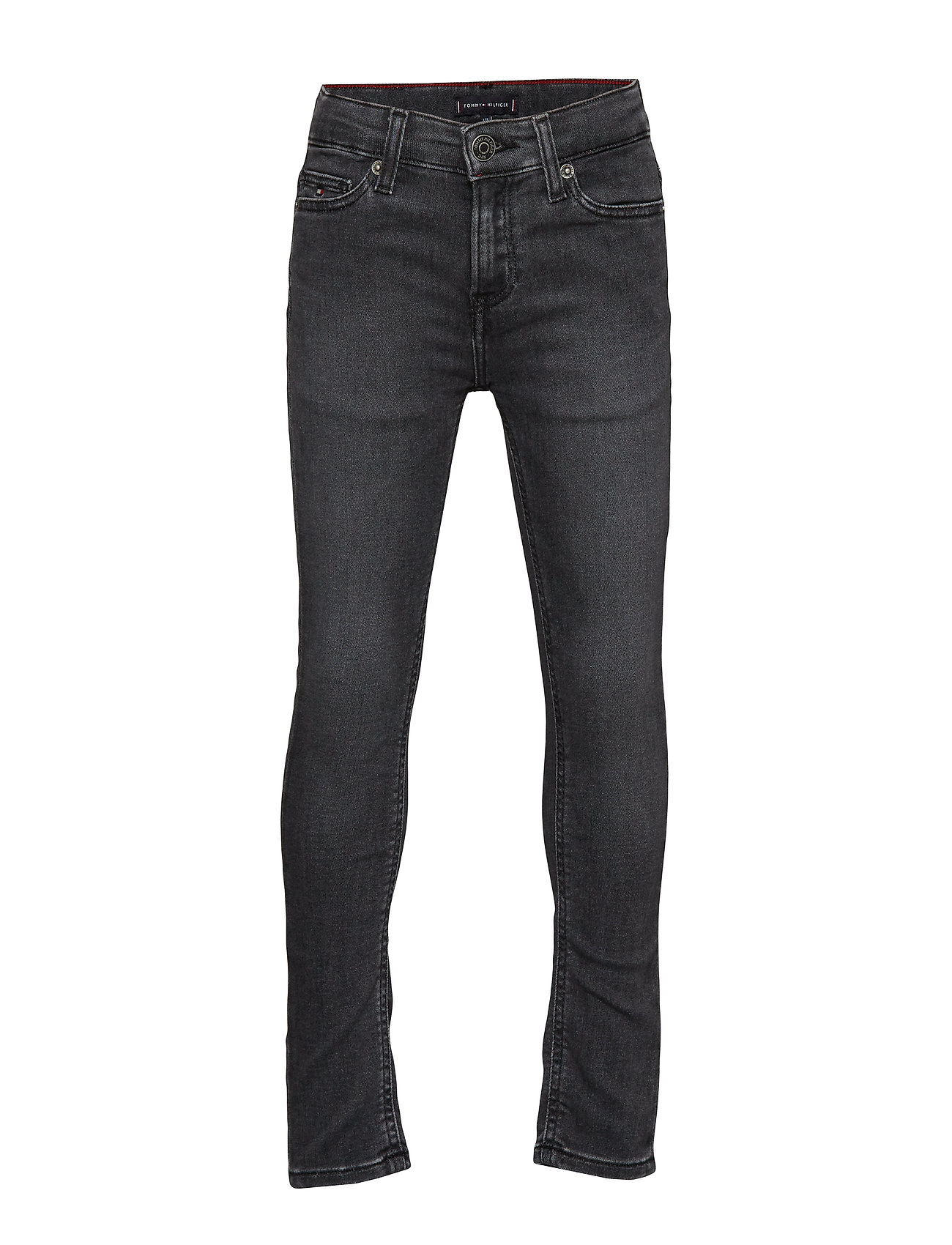 Tommy Hilfiger SIMON SKINNY SLBGST - SLIGA BLACK GREY STRETCH