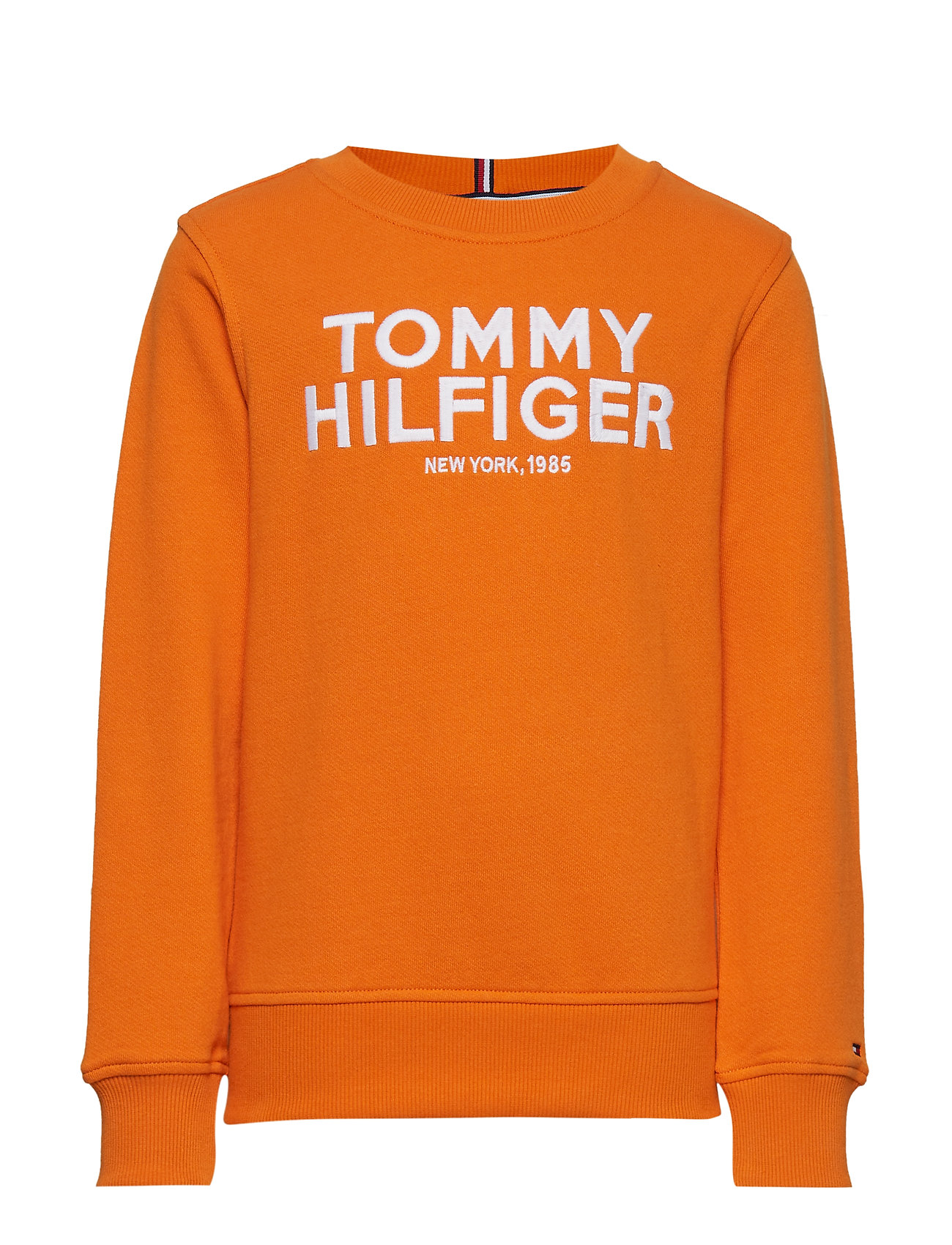 Tommy Hilfiger LOGO EMBROIDERED SWE - RUSSET ORANGE