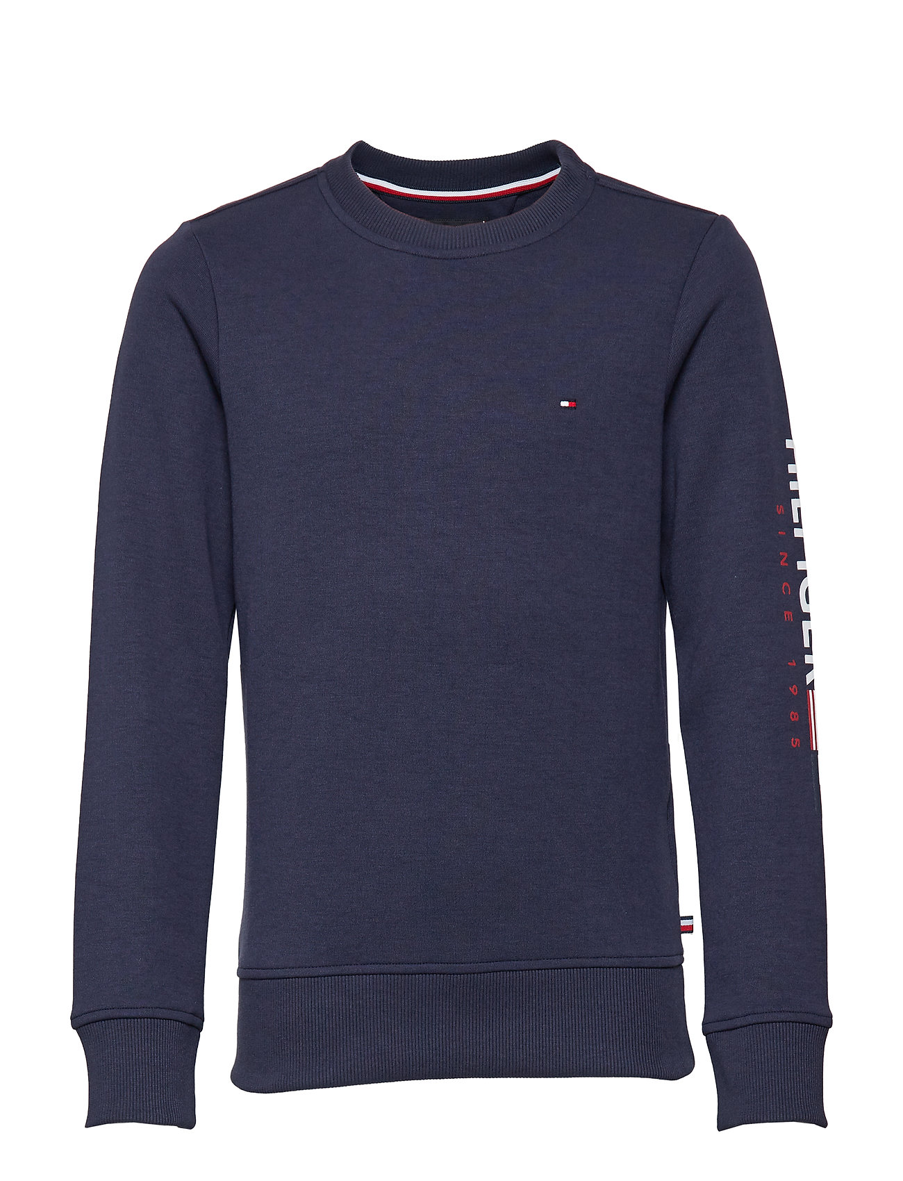 Tommy Hilfiger FLAGS INTERLOCK CREW - BLACK IRIS