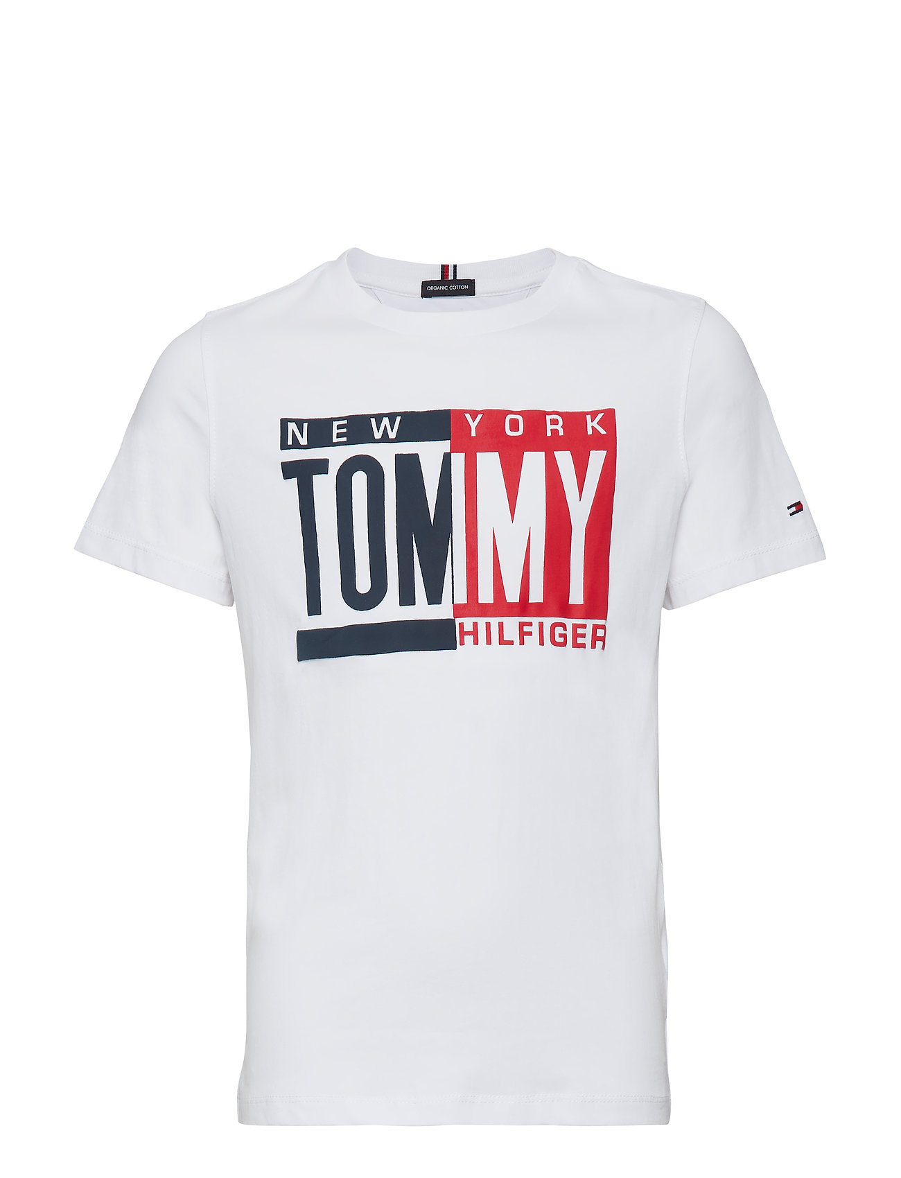 Tommy Hilfiger PUFF PRINT TEE S/S - BRIGHT WHITE