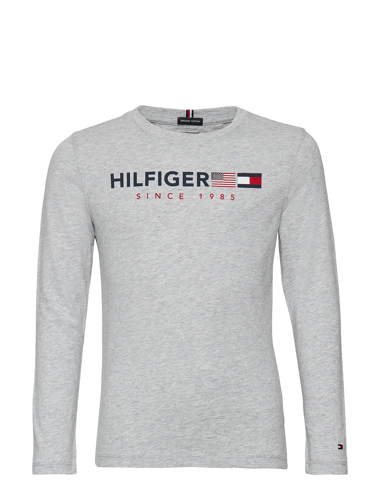 Tommy Hilfiger FLAGS GRAPHIC TEE L/ - GREY HEATHER