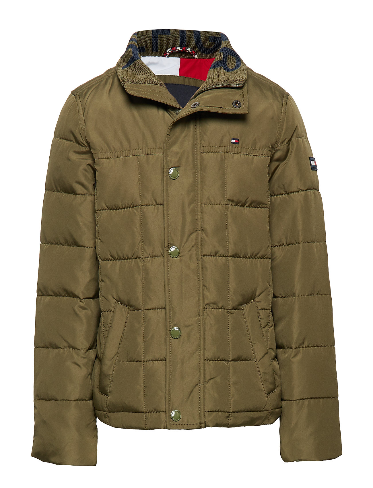 Tommy Hilfiger CLASSIC QUILTED JACK - OLIVE NIGHT