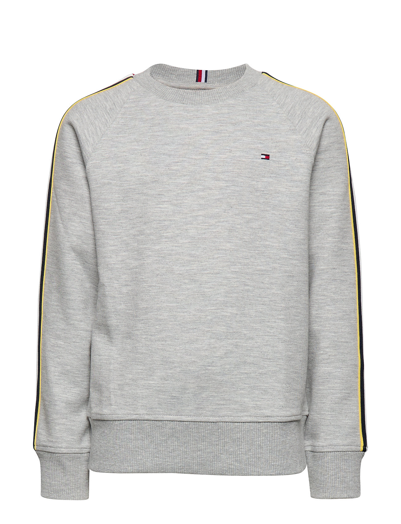 Tommy Hilfiger STRIPE INTERLOCK SWE - GREY HTR