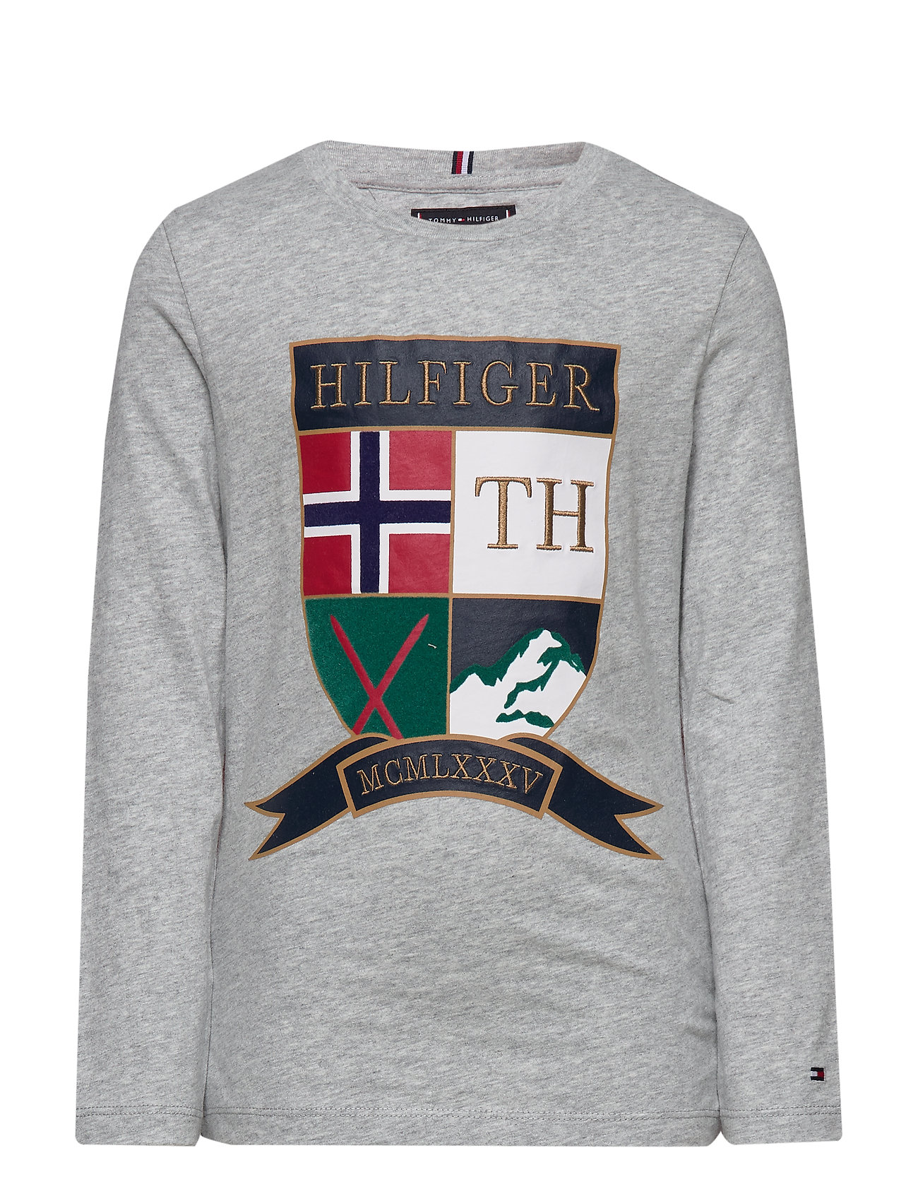 Tommy Hilfiger EMBROIDERED SHIELD T - GREY HEATHER