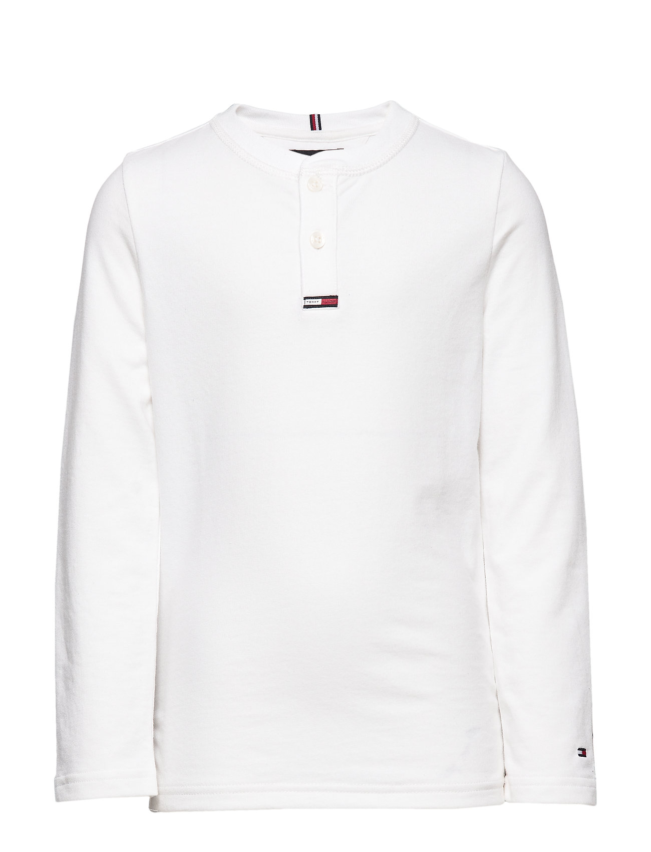 Tommy Hilfiger WAFFLE HENLEY TEE L/ - BRIGHT WHITE