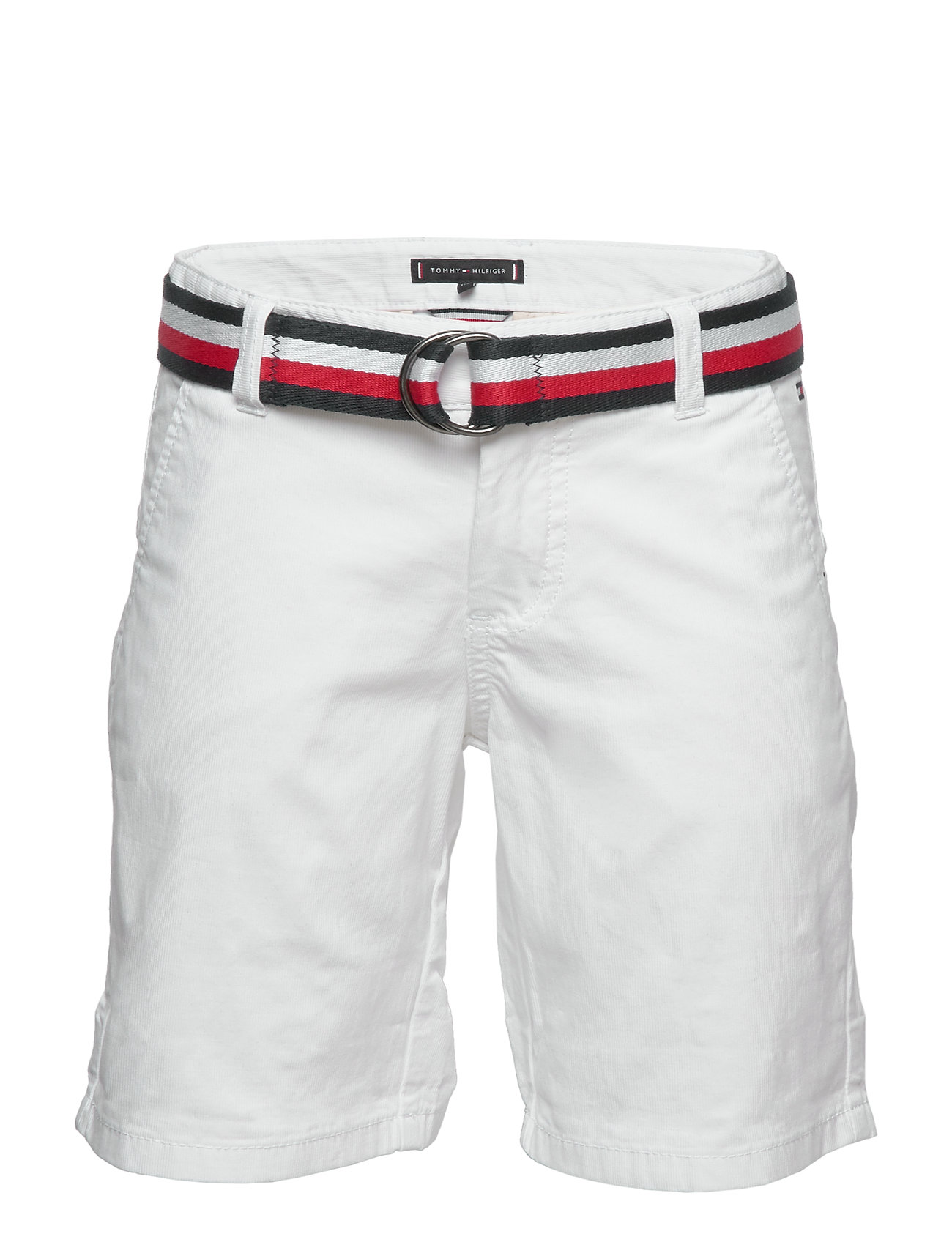 Tommy Hilfiger ESSENTIAL BELTED CHINO SHORTS - WHITE 658-170