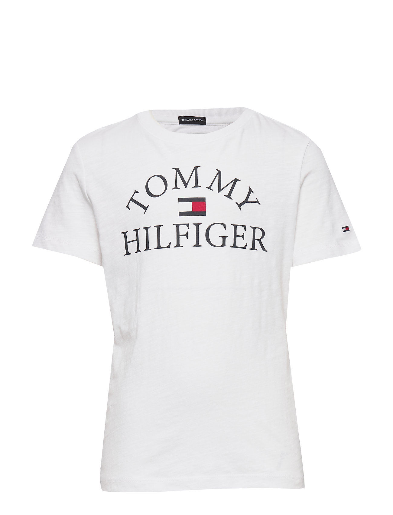 Tommy Hilfiger ESSENTIAL LOGO TEE S/S - WHITE 658-170