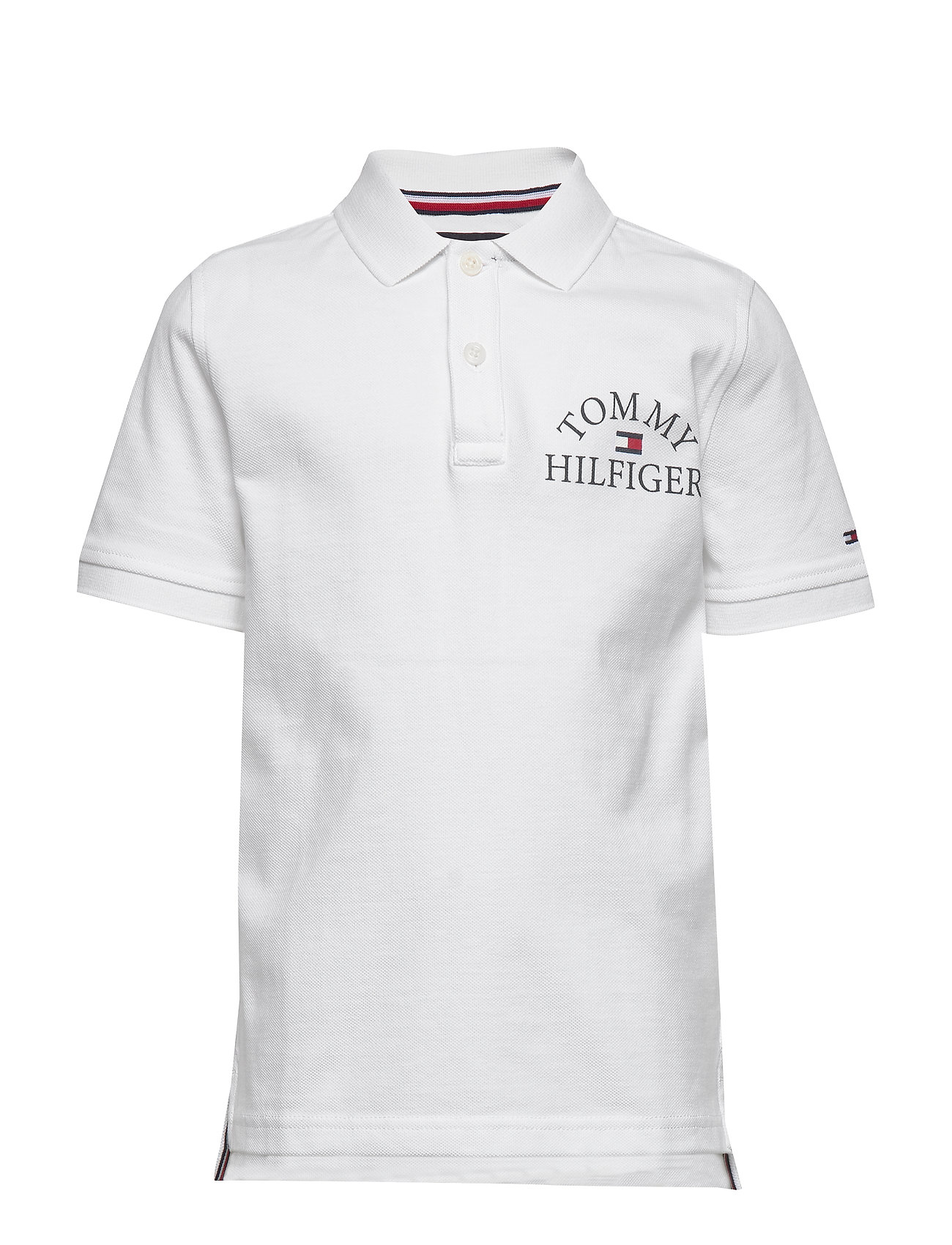Tommy Hilfiger ESSENTIAL LOGO CHEST POLO S/S - WHITE 658-170