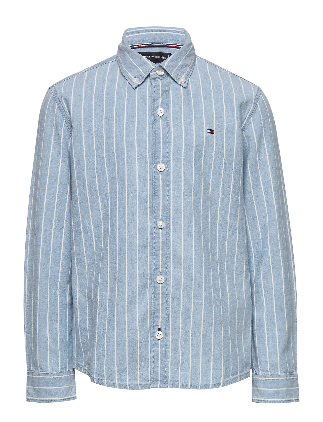 Tommy Hilfiger DENIM STRIPE SHIRT L/S - DENIM LIGHT 01