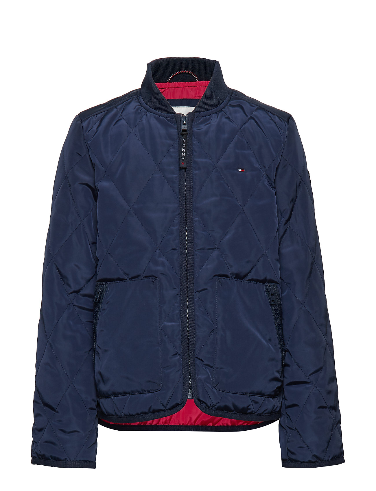 Tommy Hilfiger RECYCLED CASUAL QUIL - BLACK IRIS / VIRTUAL PINK