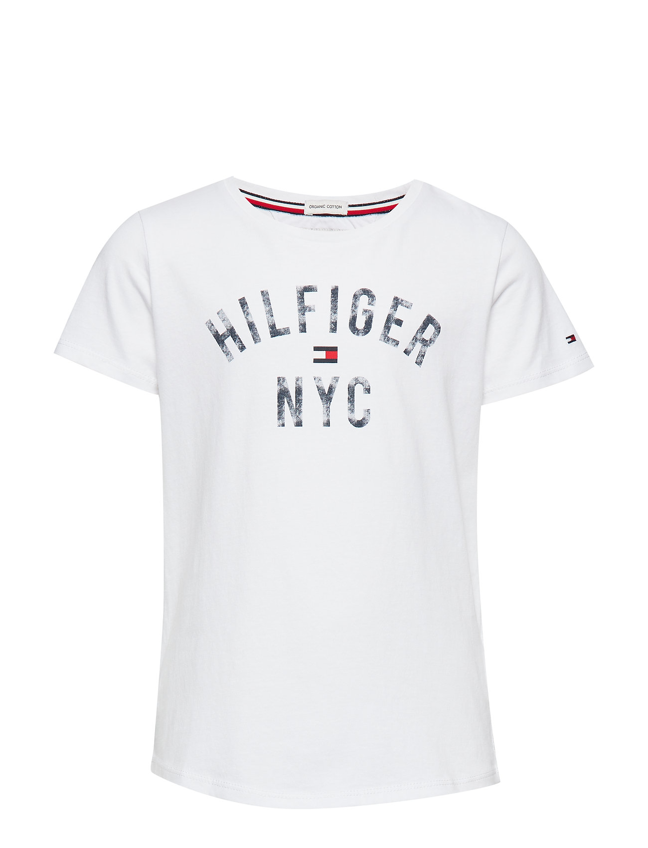 Tommy Hilfiger ESSENTIAL TOMMY PRINT TEE S/S - BRIGHT WHITE