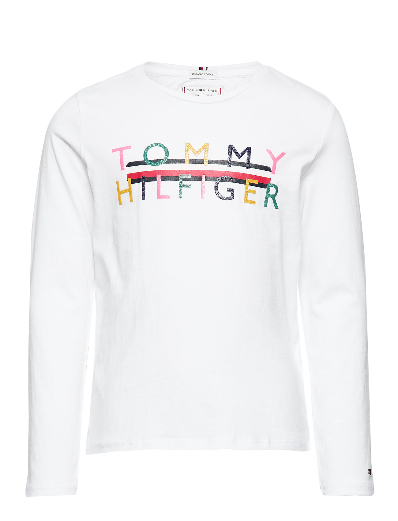 Tommy Hilfiger ICONIC LOGO TEE L/S - BRIGHT WHITE