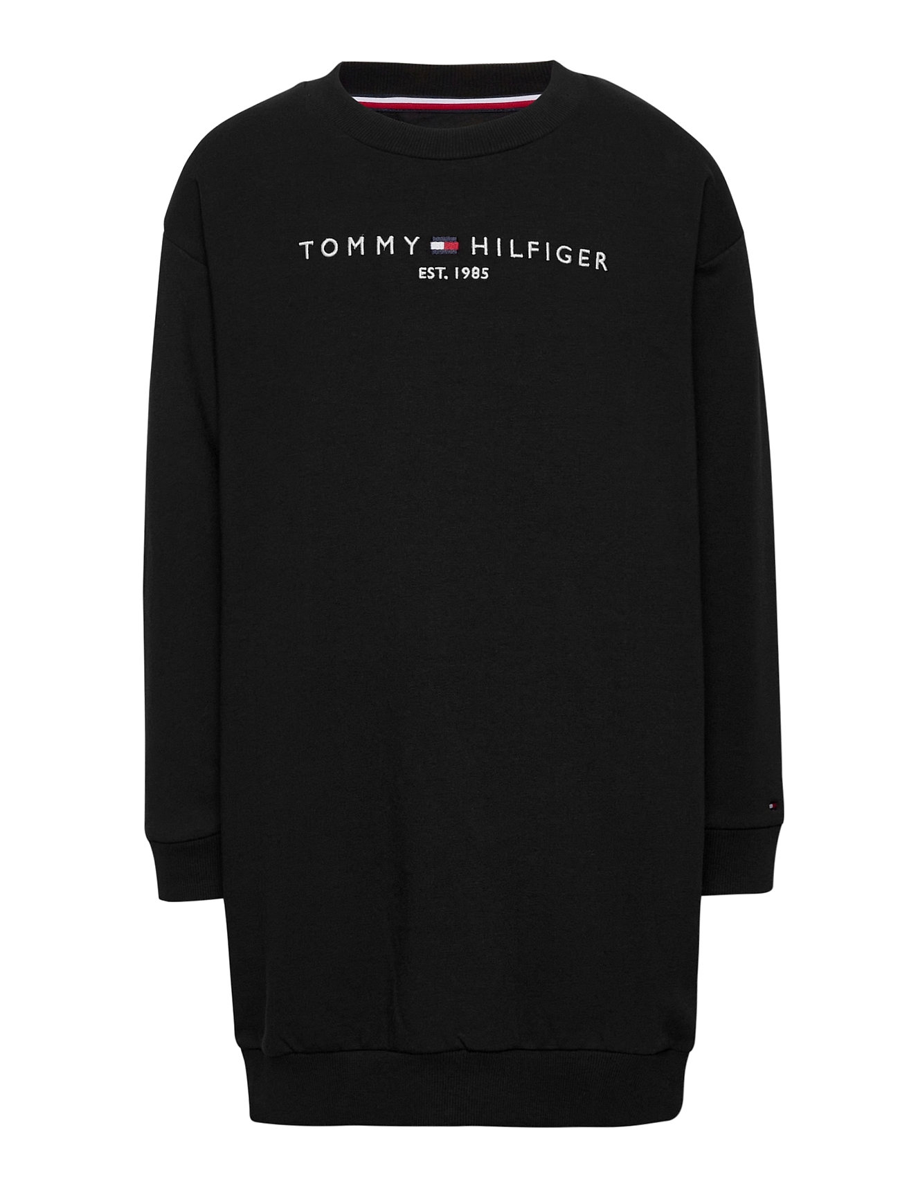 Image of Essential Sweat Dres Sweatshirt Trøje Sort Tommy Hilfiger (3489025595)