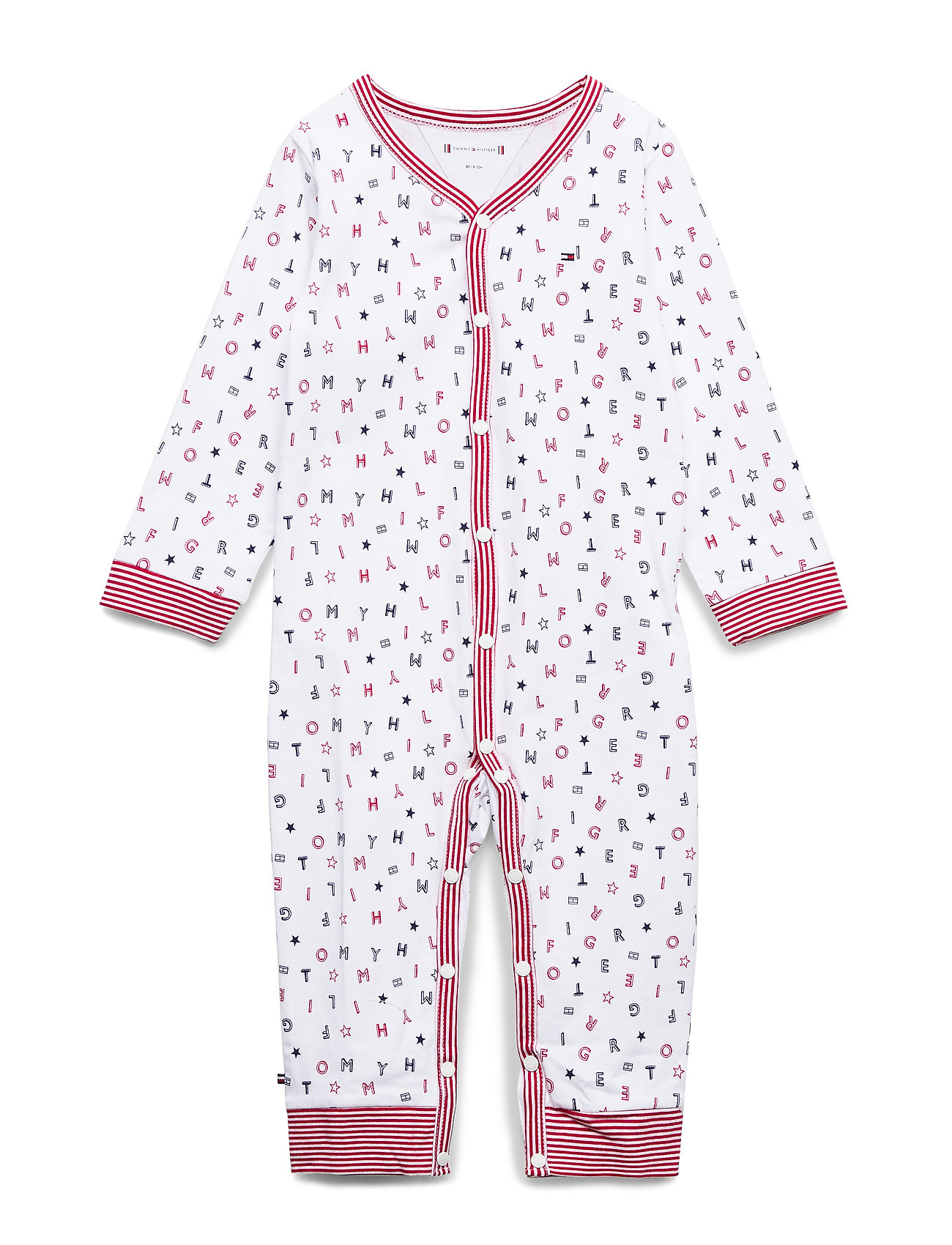 Tommy Hilfiger BABY PREPPY COVERALL - APPLE RED/MULTI