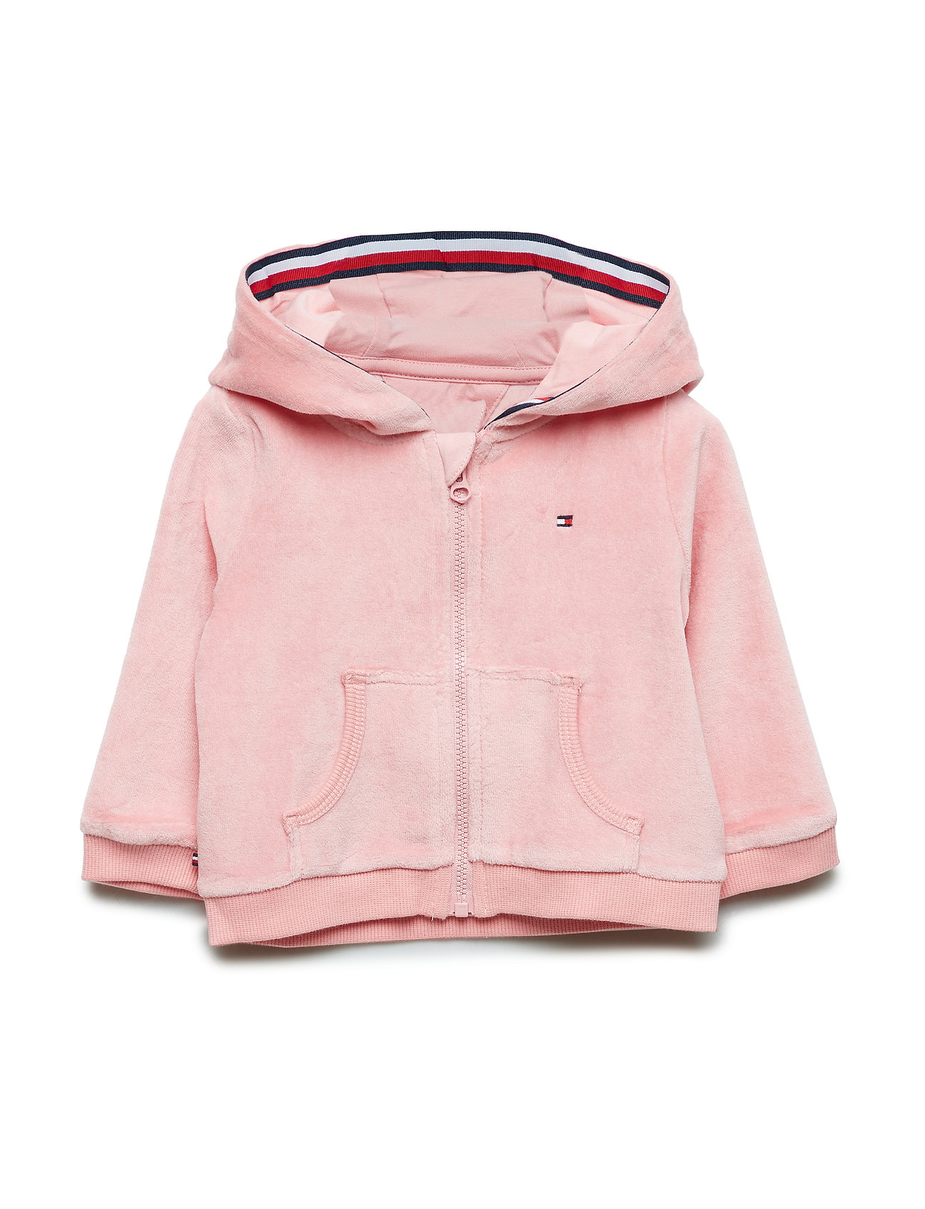 Tommy Hilfiger BABY VELOURS ZIP HOO - PINK ICING