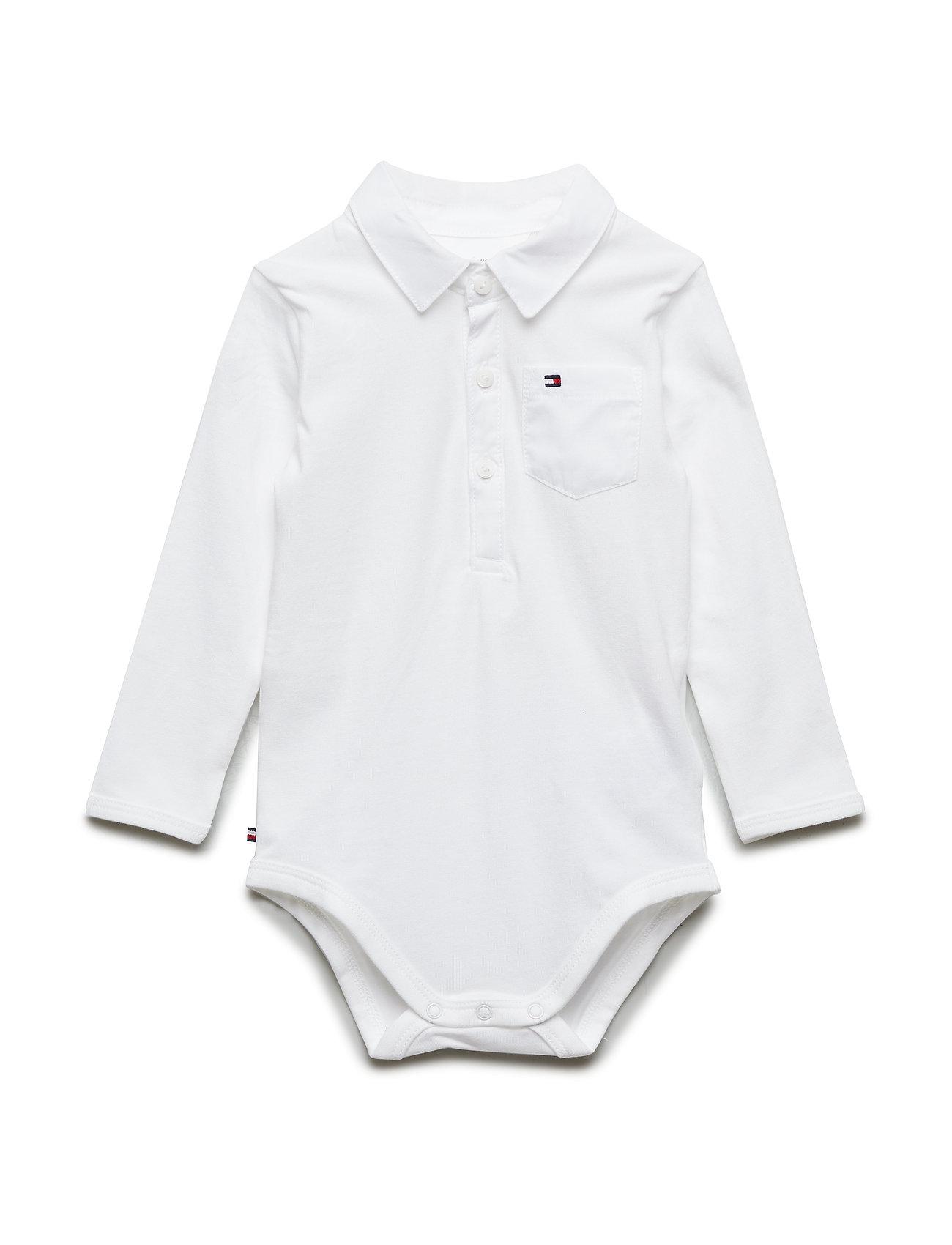Tommy Hilfiger BABY BOY POPLIN BODY L/S - BRIGHT WHITE
