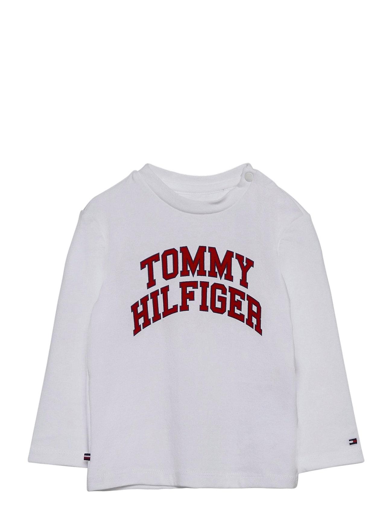 Image of Baby Hilfiger Tee L/S Langærmet T-shirt Hvid Tommy Hilfiger (3441397603)