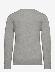 Tommy Hilfiger - BOYS BASIC V-NECK SWEATER - sweatshirts - grey heather - 1