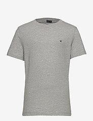 Tommy Hilfiger - BOYS BASIC CN KNIT S - short-sleeved - grey heather - 0