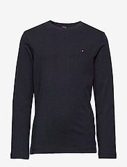 Tommy Hilfiger - BOYS BASIC CN KNIT L - long-sleeved t-shirts - sky captain - 0