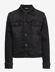 Tommy Hilfiger - TRUCKER BOYS DUSBST - denimjakker - dusk black stretch - 0